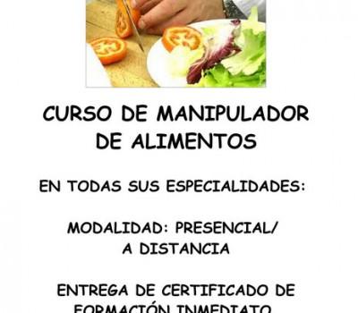 Curso de Manipulador de alimentos en Albacete