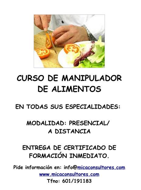 Carnet de manipulador de alimentos mica consultores - Manipulador de alimentos on line ...